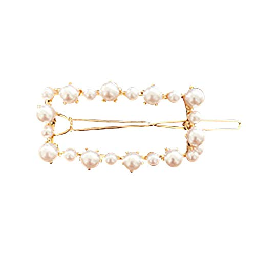 Lazzgirl INS Frauen Nettes Mädchen Perle Perle Haarspange Haarspange Haarnadel Haarschmuck Geschenk(F,One size)
