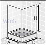 Eckeinstieg Duschkabine Echtglas Sicherheitsglas Silberne Profile 80x80 90x90 80x90 90x80 -
