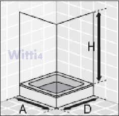 Eckeinstieg Duschkabine Echt- Sicherheitsglas mit Streifen - 2