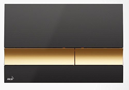Drückerplatte für WC Vorwandelemente WC-Spüle Farbe Schwarz/ Gold 3L/6L Betätigungsplatte Platte Betätigungstaste