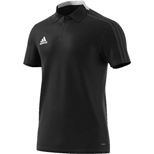 adidas Herren CON18 CO Polo Shirt, Black/White, L - Adidas Polo-shirt Gestickte