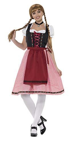 Smiffys SMIFFY 'S 49668M Bayerische Tavern Dienstmädchen Kostüm, Rot und Schwarz, Mittel/Größe ()