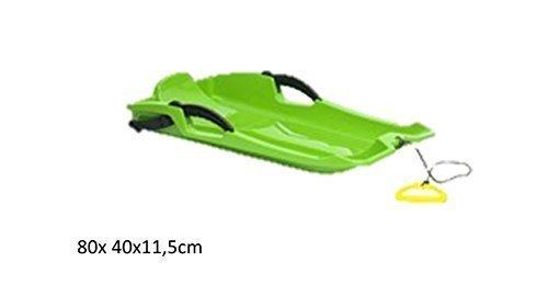 Kunststoffrodel 80x 40x11,5cm Farbe grün