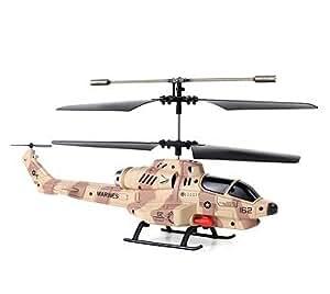 Télécommande / RC 3 canaux micro hélicoptère avec gyro et la fonction de tir de missiles