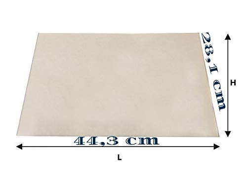Vetro ceramico x stufa (LA NORDICA LUCREZIA IDRO Extraflame) 44,3 cm x 28,1 cm, spessore 4 mm
