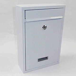 Briefkasten hochkant Stahl WEISS pulverbeschichtet Postkasten
