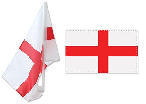 Doppelpack 30.48 x 45.72 cm cm Lack Fähnchen mit Kreuz George. anzeigen ihre Unterstützung für alle Dinge ENGLAND - 66 Rugby