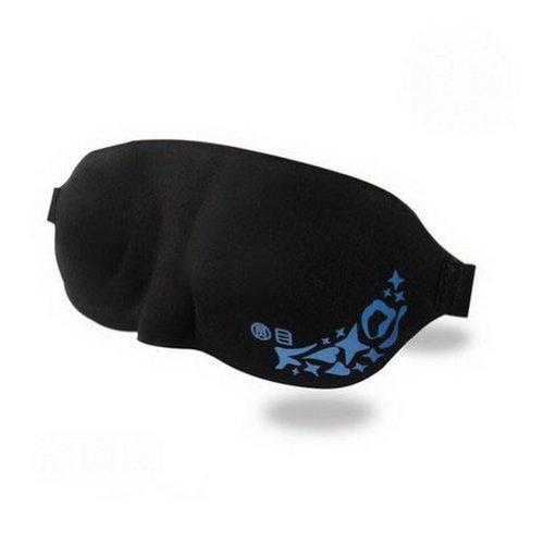 Soie Classique confortable cache oeil/cache oeil pour dormir, 3D Noir
