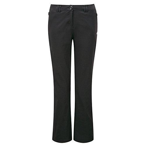 Craghoppers CWJ1072 Kiwi Pro Pantalon stretch de randonnée pour femme noir Noir 48/jambes longues