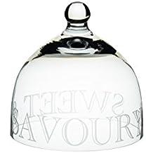 Master Class Artesà & Sweet Pea Savoury'campana in vetro con incisione, a forma di cupola, colore: trasparente