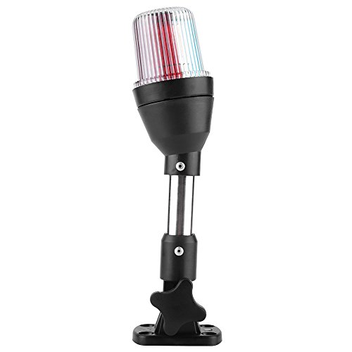 Keenso Boot Positionslichter LED-Navigationsleuchte Marine Anchor Light Boot LED-Licht Yacht Signal Licht Küstenlinie Tri-Color Red Green Fold Down Stern