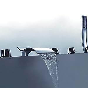 Generalisierte Modern Design, chrom Wasserfall Wannenarmatur mit Handbrause