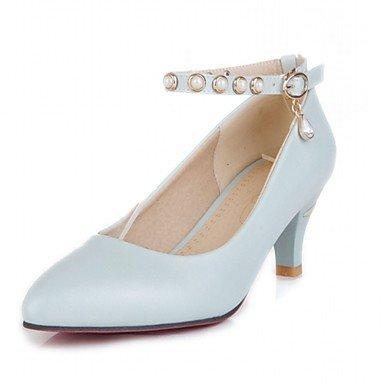 Moda Donna Sandali Sexy donna tacchi Primavera / Estate / Autunno / Inverno tacchi / Piattaforma / Novità / cinturino alla caviglia / Punta White