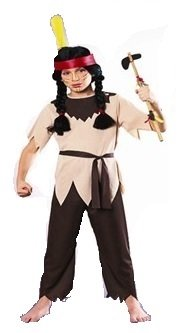 Attraktives Indianerin Kinder Kostüm! 3 Teile! (Pocahantas Kostüm)