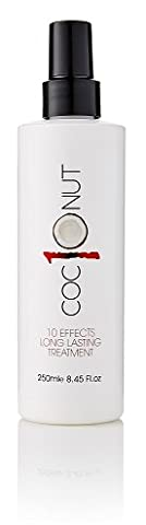 Coconut Heat Protection Spray, Dry Hair Treatment – 10 Benefits, Anti - Frizz, UV Protection, Add Body, All In One Styling Treatment – 250