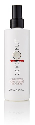 Coconut Heat Protection Spray, Dry Hair Treatment – 10 Benefits, Anti - Frizz, UV Protection, Add Body, All In One Styling Treatment – 250 Millilitres