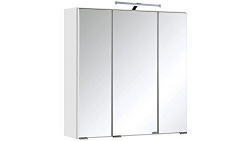 HELD MÖBEL Spiegelschrank Texas Breite 60 cm, mit LED-Beleuchtung weiß