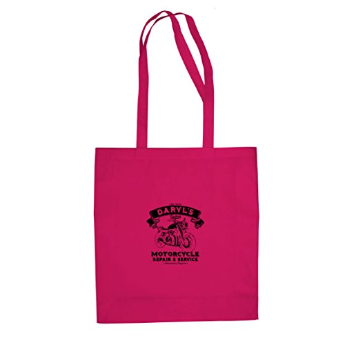 Daryl's Motorcycle Service - Stofftasche / Beutel Pink