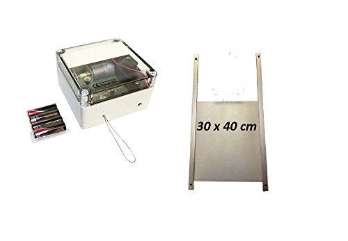 AXT Elektronischer Pförtner mit Batterien VSBb Hühnerklappe 30 x 40 cm