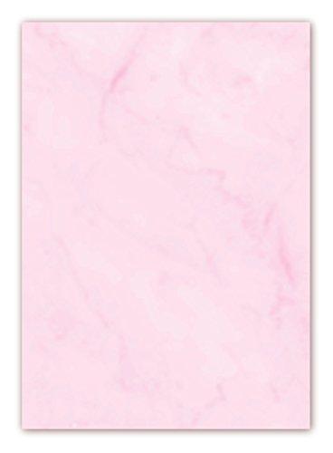 Gastronomie Papier (Rosa-Marmor, DIN A5, 100 Blatt, GPA-5008) für Speisekarten. Marmoriertes Papier, einseitig bedruckt, für alle Drucker/Kopierer - Karten-drucker