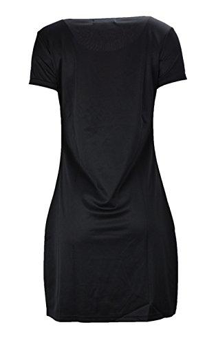 Donne di colore vestono camicia con stampa floreale Noir