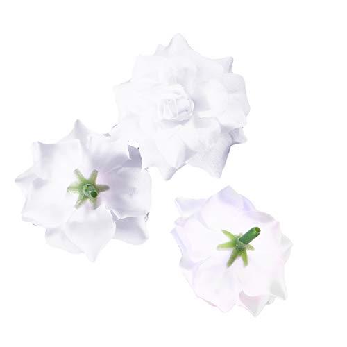 SUPVOX 50 stücke Seide Rose Blume köpfe für DIY Kleidung Album verschönerung Hochzeit Valentines Tag Dekoration verzierung (weiß)