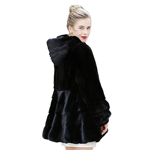 ZYJANO Warmer Mantel,Echte Mäntel Jacke mit Kapuze Winter Echte Frauen Oberbekleidung Mäntel Plus Size 4XL 5XL 1