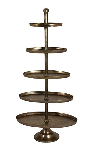 Riesige Etagere 170cm Höhe vernickelt Bronze Gold Gebäckschale