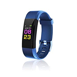Voiks Bluetooth Fitness Tracker, Heart Rate Monitor Sweatproof Fitness Activity Tracker GPS Tracker Sleep Monitor Step Counter Pedometer Calorie Burns Smart Watch for Kids and Adults