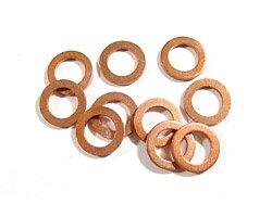16mm ID x 22mm OD x 1.5mm Thick Copper Sealing Washers Flat Seal Banjo Crushplug Pack of 5