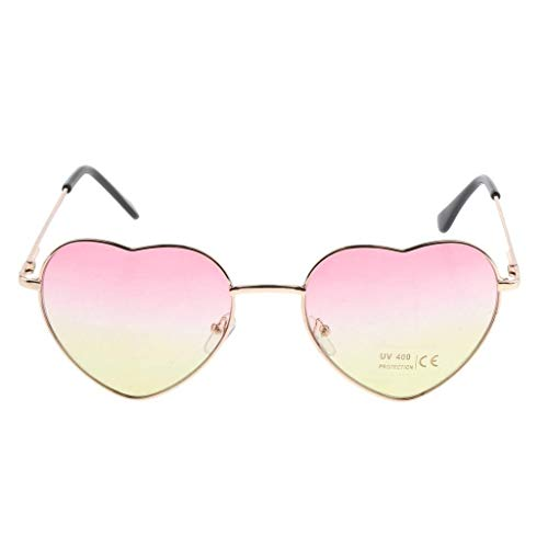 RMXMY Mode Persönlichkeit herzförmigen pfirsichförmigen Farbverlauf transparent Ozean Stück Sonnenbrille Sonnenbrille (Color : Pink)