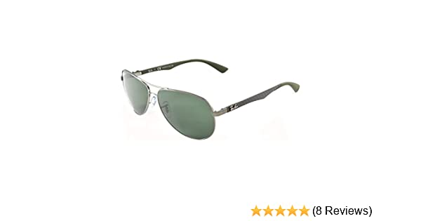 fa4ebf057b Ray-Ban 8313 004 N5 Gunmetal 8313 Aviator Sunglasses Polarised Lens  Category 3  Amazon.co.uk  Clothing