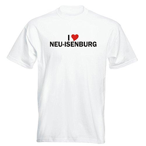 T-Shirt - i Love Neu-Isenburg - Herren - unisex Weiß