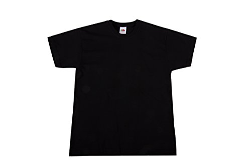 Fruit of the Loom Jungen T-Shirt Valueweight T Kids, Schwarz (Black 36), 152 (Herstellergröße: 12Y)