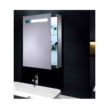 Mona Mini Spiegelschrank mit LED Beleuchtung Schiebetür ...