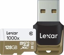 Lexar lsdmi128cbeu1000r - scheda di memoria micro sdhc uhs-ii da 128 gb, classe 10, con lettore di schede usb