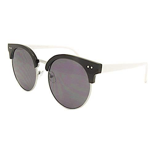 Hochwertige Sonnenbrille Classic Rocky 400UV Flache Runde Gläser Grau