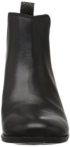 Pieces Psbecca Leather New Boot Black, Bottes Chelsea Femme Noir (Black)