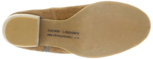 Chinese Laundry Strawberry Field Rund Wildleder Mode-Stiefeletten Dark Camel