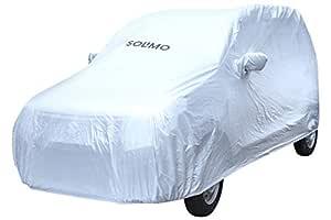 Amazon Brand - Solimo Maruti WagonR Water Resistant Car Cover (Silver)