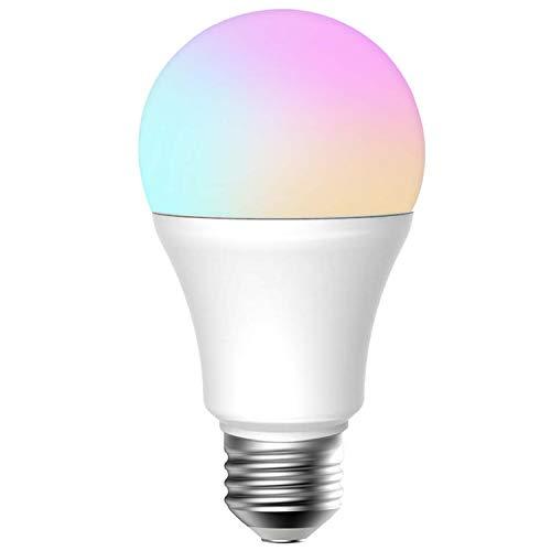Meross Smart WLAN Mehrfarbige Dimmbare LED Glühbirne Fernbedienung 60W Äquivalent E27 2700K-6500K kompatibel mit Amazon Alexa(Echo, Echo Dot), Google Home und IFTTT, MSL120EU