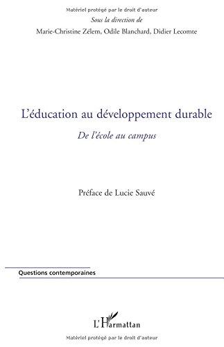 L'éducation au développement durable : De l'école au campus
