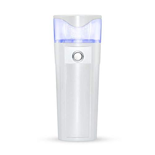 Mini tragbarer Nano-Spray-Befeuchtungsbefeuchter Gesichtsdampfer mit aufladendem Schatz,White
