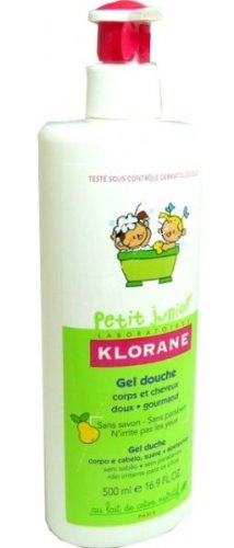 Klorane - Gel de Ducha Cuerpo y Cabello Pera Petit Junior Klorane 500 ml 36m+