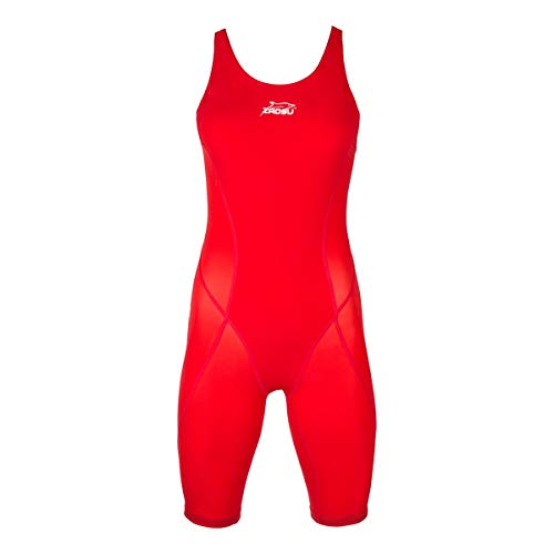 ZAOSU Wettkampf-Schwimmanzug Z-Speed für Damen & Mädchen, Farbe:Rot, Größe:40