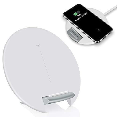 Evershop Fast Wireless Charger, Qi Ladegerät Wireless Ladegerät Schnellladestation Faltbare Ladestation für Samsung Galaxy S9/Note 9/S8/S7, iPhone XS/max/8/iPhone X und alle Qi Fähige Geräte