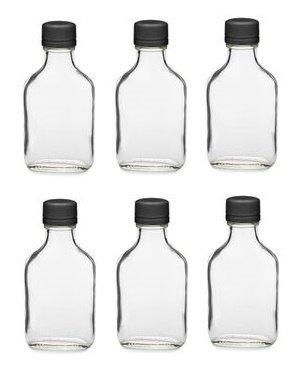 nakpunar Glas Fläschchen Flasche mit Schwarz manipulationssicherer Gap, glas, schwarz, 100 ml (Großhandel Mit Kunststoff-gläser Deckel)