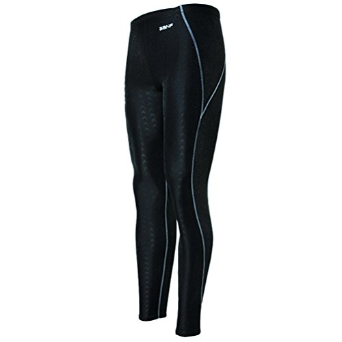 Zhhlaixing Unisex Surfing Leggings Sun Protection Yoga Baden Surfing Diving Black&Gray