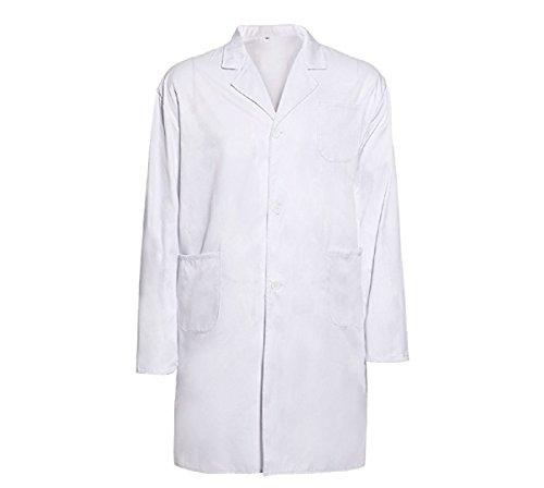 Miya Labormantel Laborkittel Damen Herren Kittel Medizin weiß Arztkittel Berufsbekleidung Arztkittel (L)