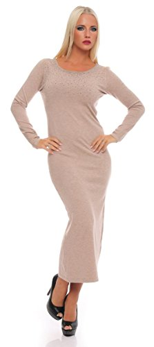Fashion4Young - Robe - Femme blanc weiss. 36 Gris